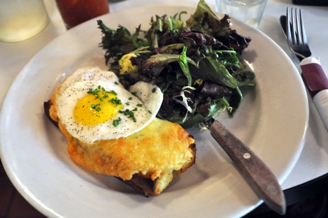 croque madame at flea market cafe