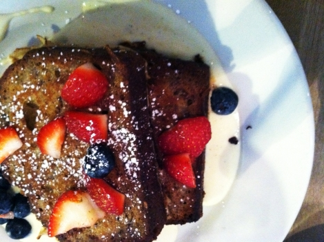 sneakers banana bread french toast
