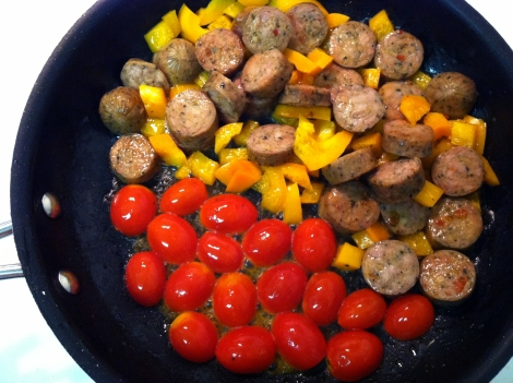 chicken sausage tomatoes peppers